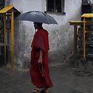 Monk at Namohbuddha, Nepal by John Callaway