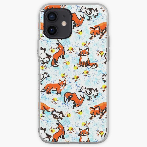 Fox and Chickens  iPhone Soft Case