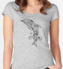 Dolphin Doodle Women's Fitted Scoop T-Shirt