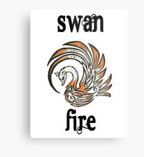 Swan Fire Merchandise Metal Print