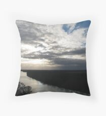 Murray River Throw Pillow