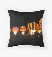 Renmark balloon glow Throw Pillow