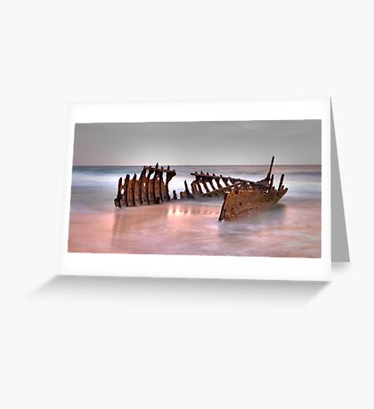 Shipwreck - Dickie Beach - QLD - Australia Greeting Card