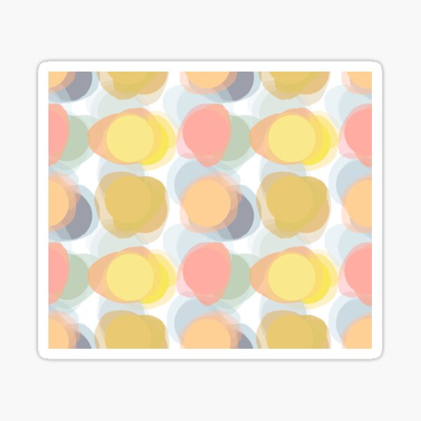 Color Spots of Yellow Sticker