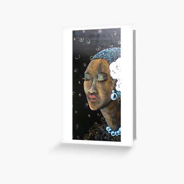 Lady Blues Greeting Card