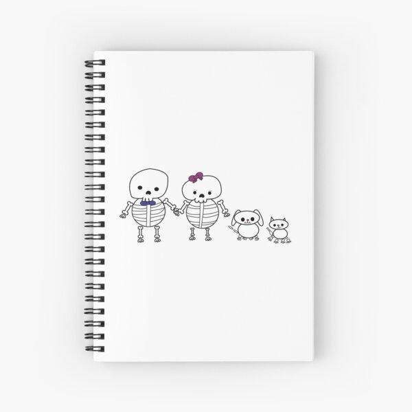 Skeleton Family Man Woman Cat Dog Spiral Notebook