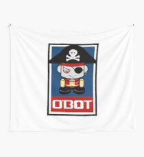 Pirate O'BOT 2.0 Wall Tapestry