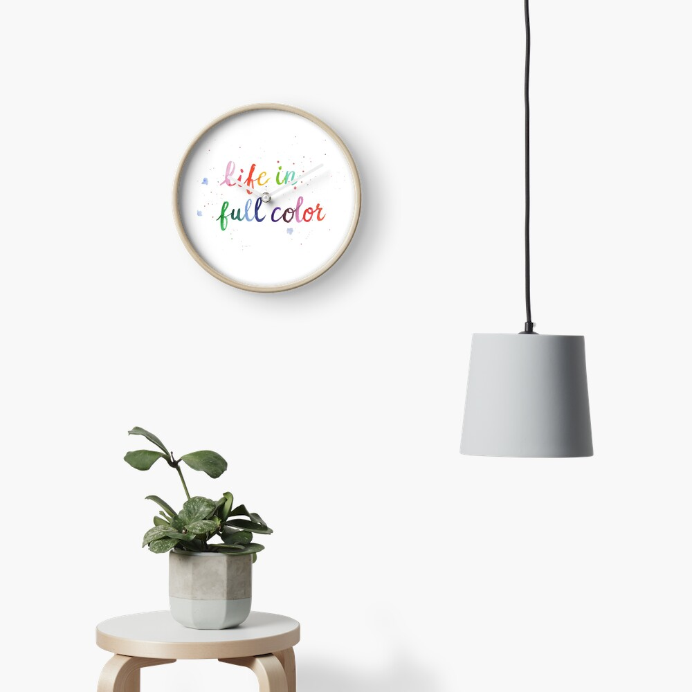 Life in Full Color Clock