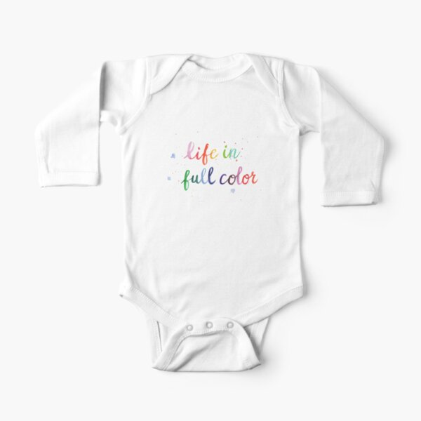 Life in Full Color Long Sleeve Baby One-Piece