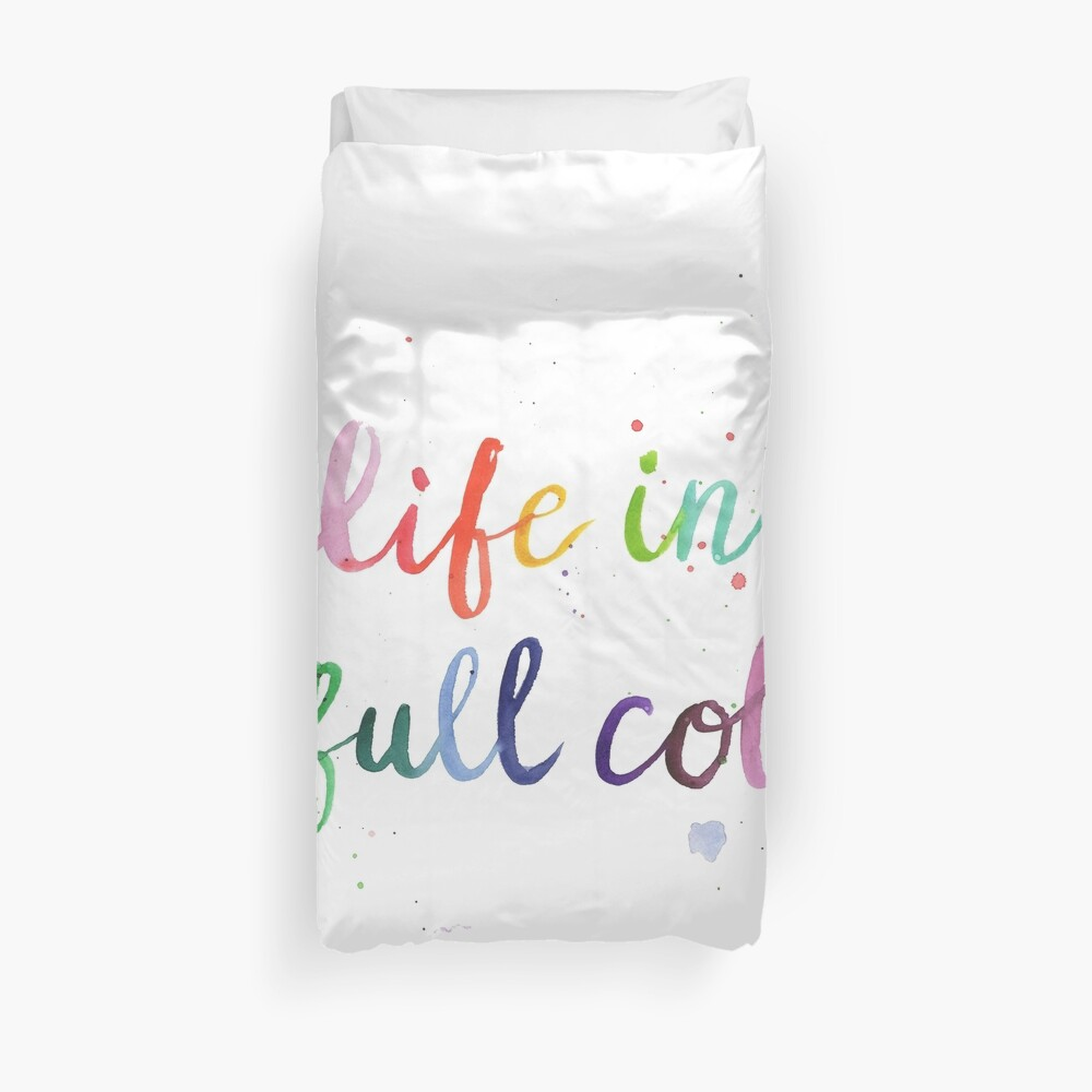 Life in Full Color Duvet Cover