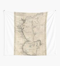 Vintage Map of The Caspian Sea (1730) Wall Tapestry