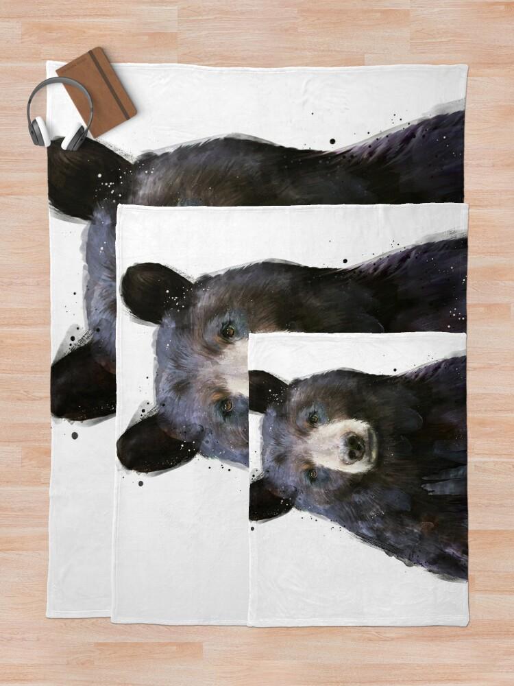 Alternate view of Black Bear Throw Blanket