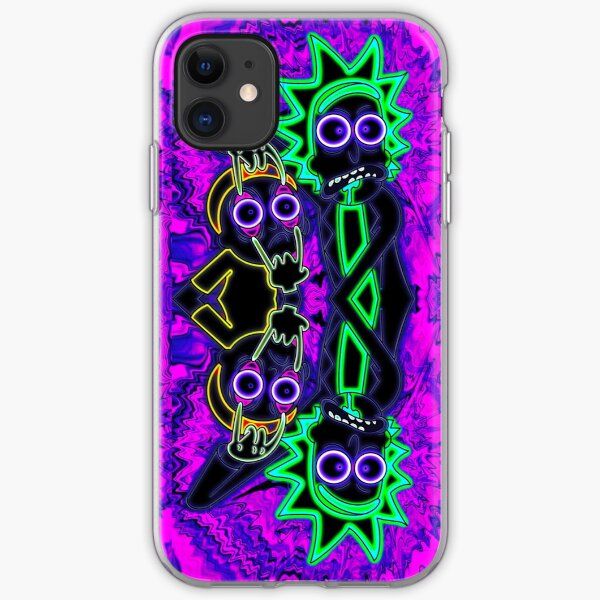 Neon Rick and Morty iPhone Soft Case