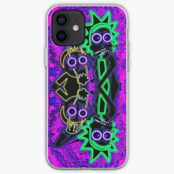 Neon Rick et Morty Coque souple iPhone