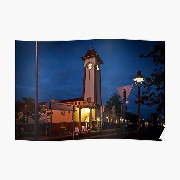 Sandgate Town Hall at dusk Poster