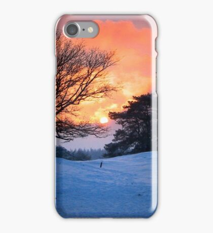 Sunset and the trees iPhone Case/Skin