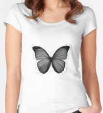 Geometric Butterfly Women's Fitted Scoop T-Shirt