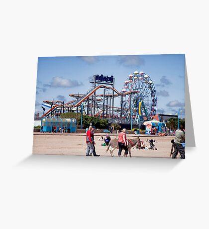 Skegness Fun Fair from the Beach Greeting Card