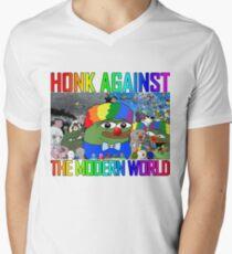 HONK AGAINST THE MODERN WORLD V-Neck T-Shirt