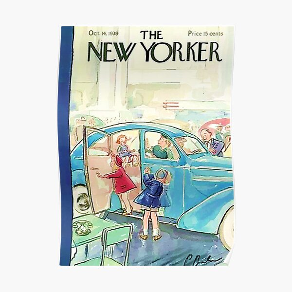 Vintage New Yorker Cover - Circa 1939 Poster