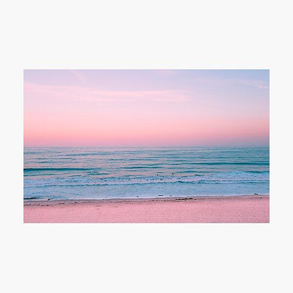 Pink Ocean Sunset  Photographic Print