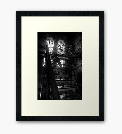 Dead Man Walking - Old Melbourne Gaol, Melbourne - The HDR Experence Framed Print