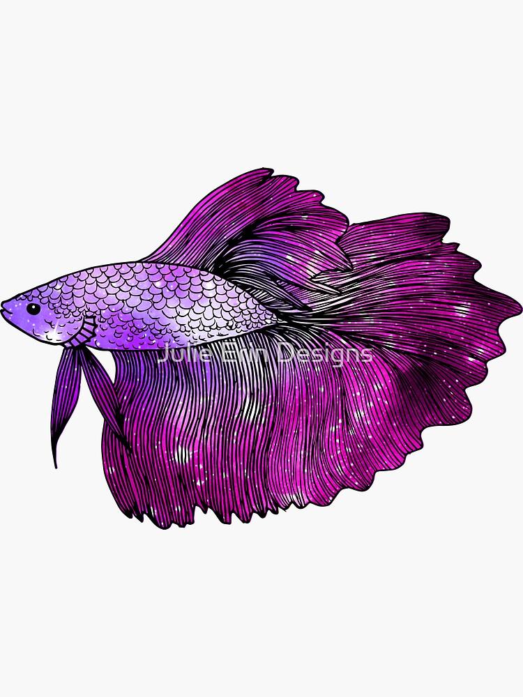 Pink Betta Fish Galaxy by julieerindesign