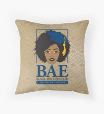 BAE- Black and Educated Bachelor's Degree Throw Pillow