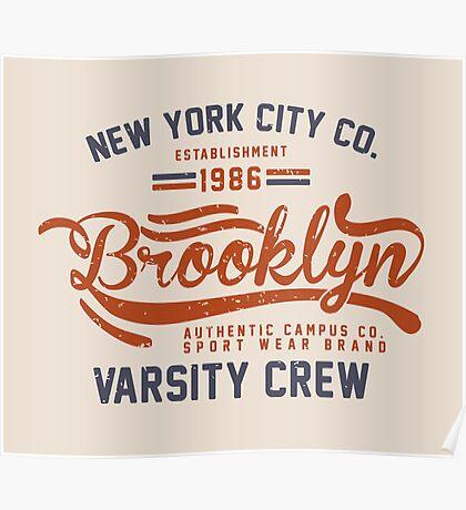 Vintage New York Brooklyn 1986 Poster