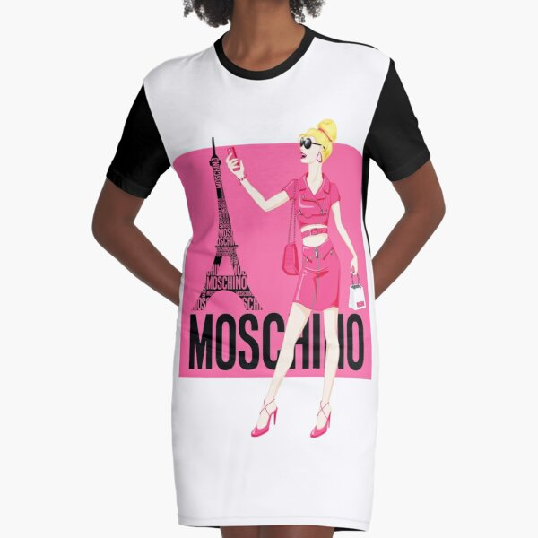Magaly Cuevas Moschino Spring Fashion Graphic T-Shirt Dress