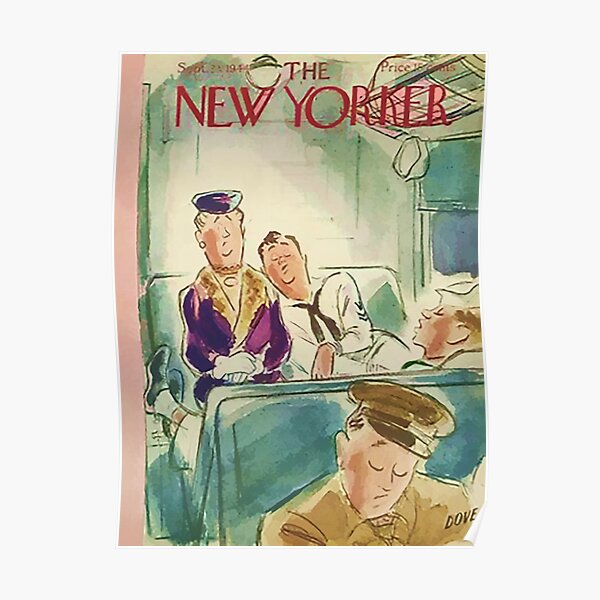 Vintage New Yorker Cover - Circa 1944 Poster