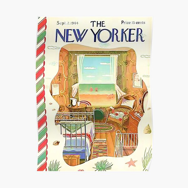Vintage New Yorker Cover - Circa 1944-2 Poster