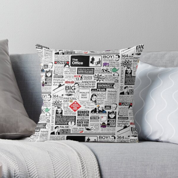 Wise Words From The Office - The Office Quotes (Variant) Throw Pillow