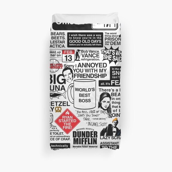 Wise Words From The Office - The Office Quotes (Variant) Duvet Cover