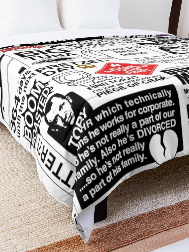 Alternate view of Wise Words From The Office - The Office Quotes (Variant) Comforter