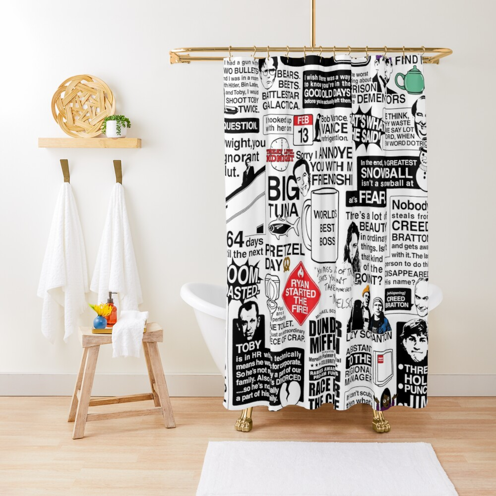 Wise Words From The Office - The Office Quotes (Variant) Shower Curtain