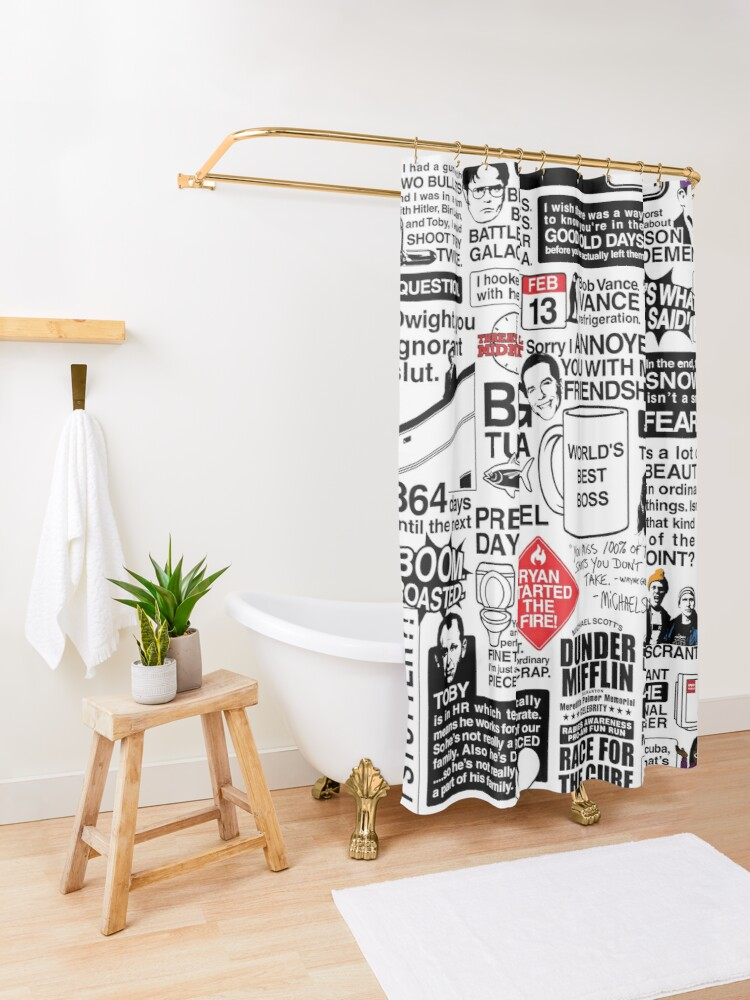 Alternate view of Wise Words From The Office - The Office Quotes (Variant) Shower Curtain
