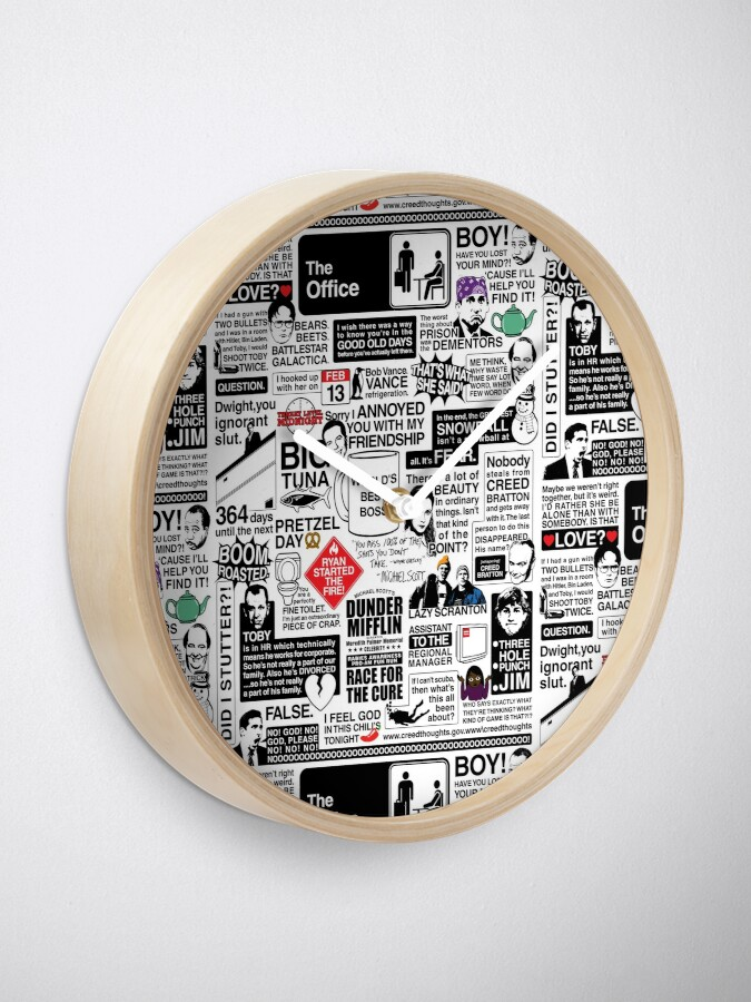 Alternate view of Wise Words From The Office - The Office Quotes (Variant) Clock