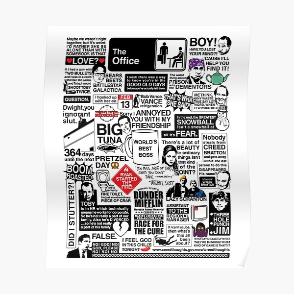 Wise Words From The Office - The Office Quotes (Variant) Poster