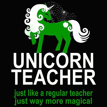 Unicorn Elementary School Teacher Design Cute More Magical by kimmicsts