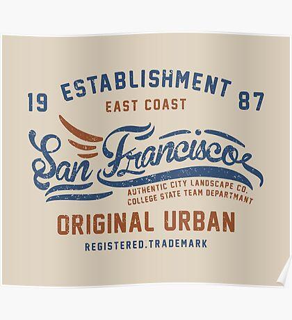 San Francisco Vintage Hand Lettering College Poster