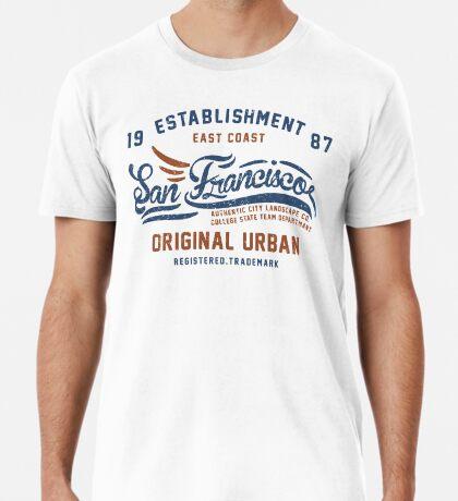 San Francisco Vintage Hand Lettering College Premium T-Shirt