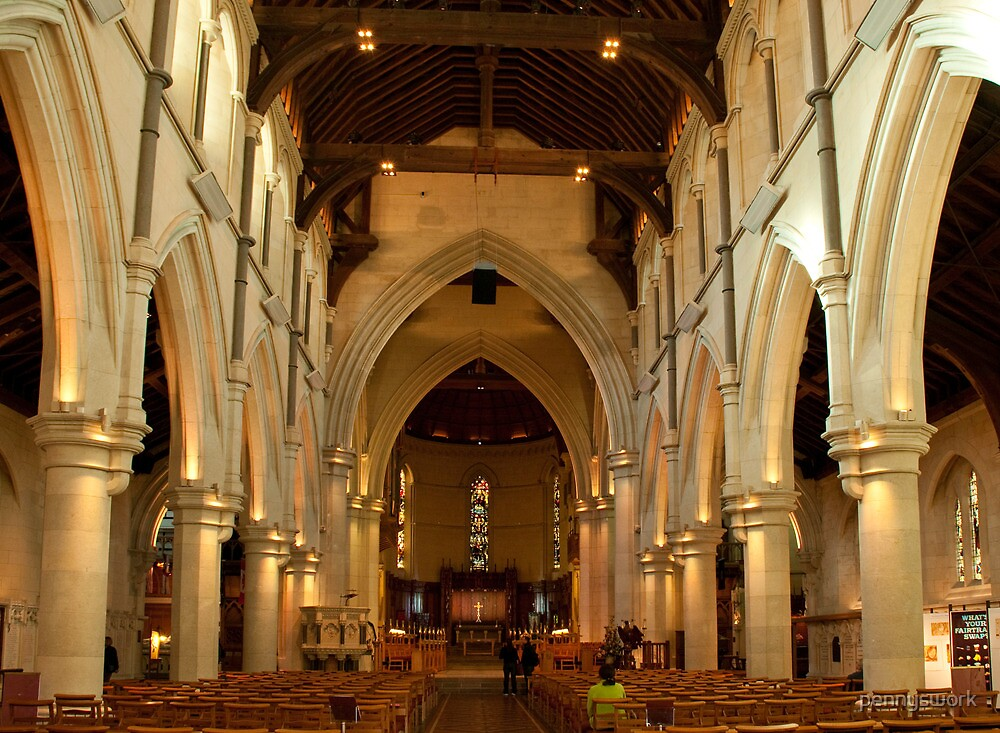 Interior of Christchurch Cathedral 2 by pennyswork