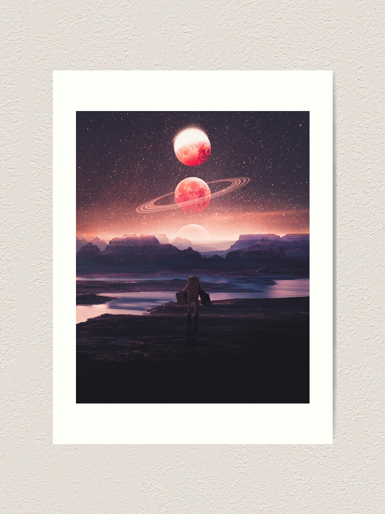 Alternate view of Not A Home Art Print