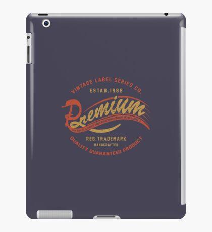 Premium Vintage Label Hand Lettering iPad Case/Skin