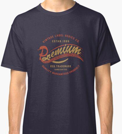 Premium Vintage Label Hand Lettering Classic T-Shirt