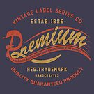 Premium Vintage Label Hand Lettering by Chocodole