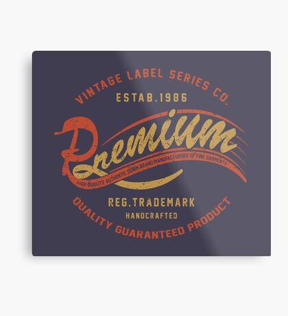 Premium Vintage Label Hand Lettering Metal Print