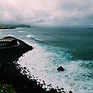 Dark and Stormy Blue Ocean Waves by AlexandraStr