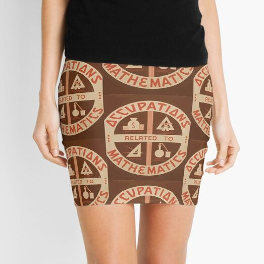 Occupations Mathematics Mini Skirt